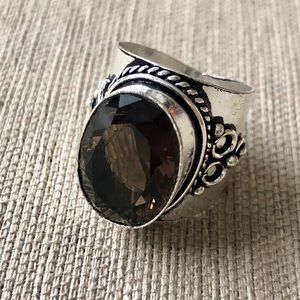 Jewelry - ✨NEW✨Smoke Quartz Handcrafted Sterling Silver Ring
